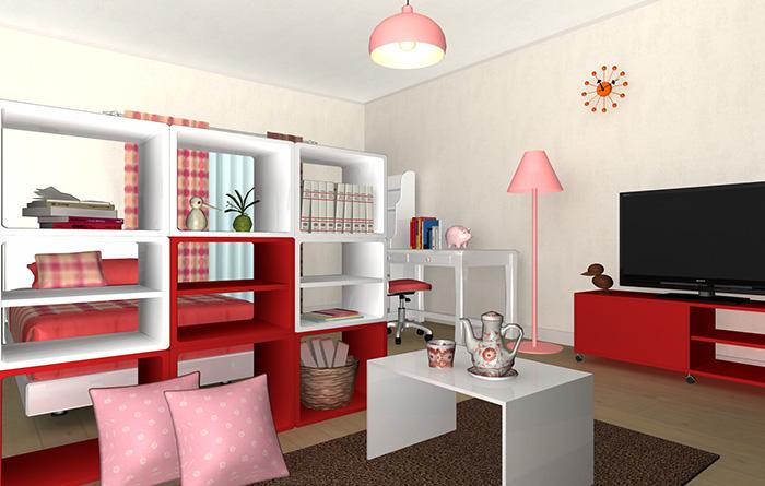 春からの新生活女の子の部屋 ユーザー作品紹介 間取り3d住宅