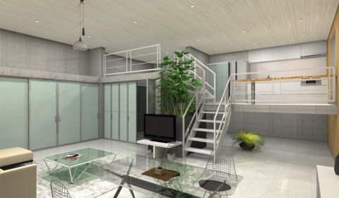 デザイナーズマンションリビング