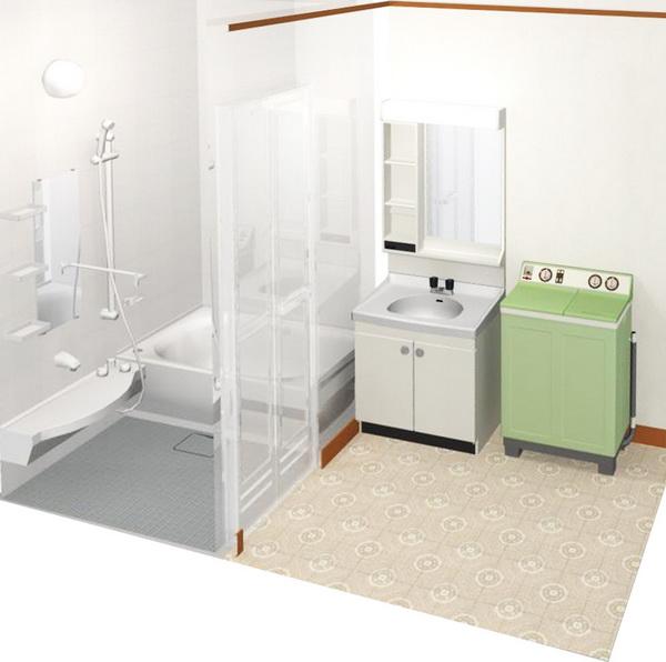 新旧混在したパーツ_洗面と浴室