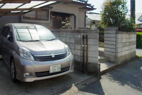 駐車場スペースと、玄関までのアプローチをリフォーム