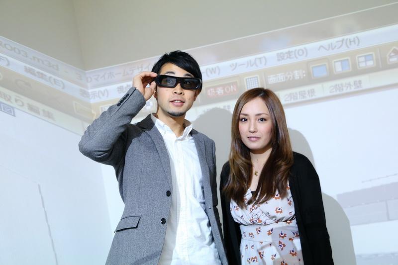 3Dメガネをかけるとほぼ実物大で3D空間を体験できる