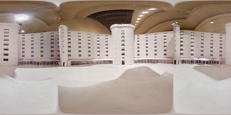 THETAで撮影した村野藤吾設計の建築物の模型写真