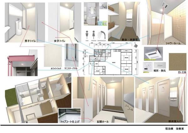 リアルタイム3Dのパース例-施設改装プレゼン