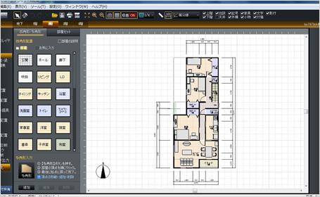マイホームデザイナーで作成した間取り(2階)
