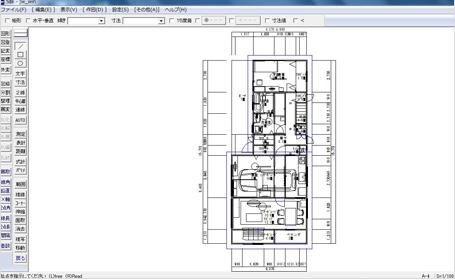マイホームデザイナーからJW CAD形式で出力した図面