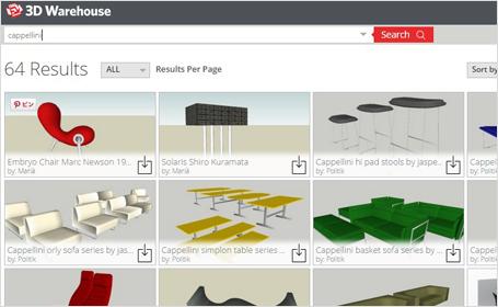 3D warehouseのサイトページ