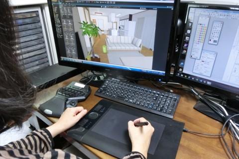 上田美和先生のアシスタントさんのマイホームデザイナーを使った作業風景