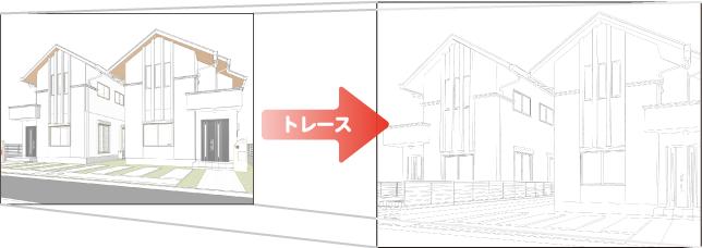 3Dを下絵にコミック制作ソフトでトレース