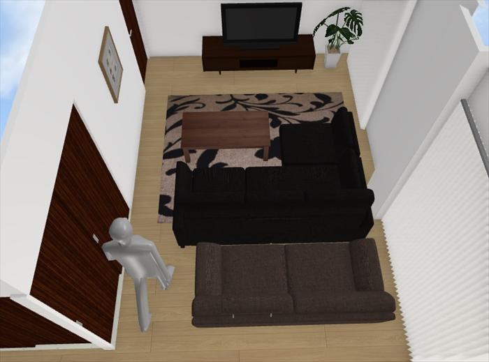 【希望の家具を部屋に置いた時のサイズ感は、3Dで確認すれば一目瞭然です】