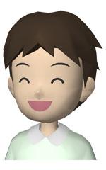 人物の無料イラスト素材 笑顔の園児男
