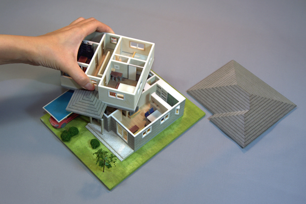住宅模型サンプル-住宅模型作成...