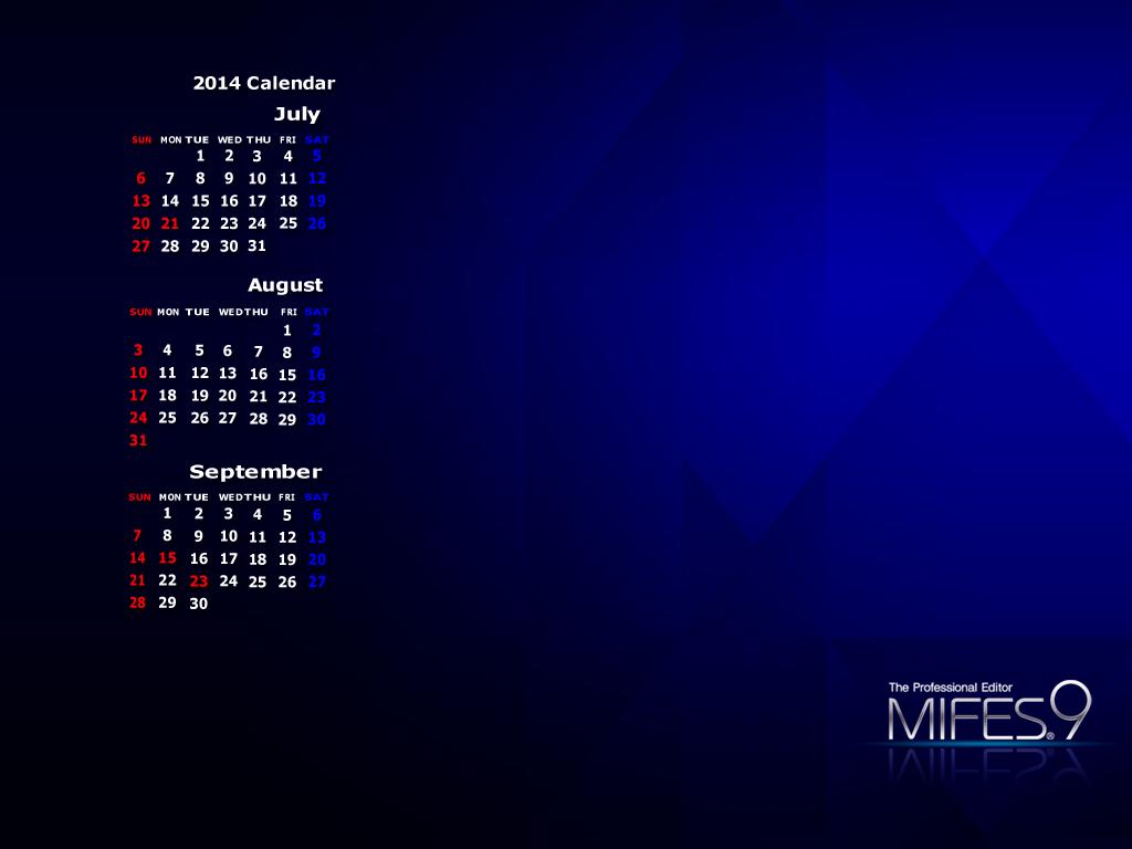 MIFES 9 ブルー 壁紙(カレンダー ...