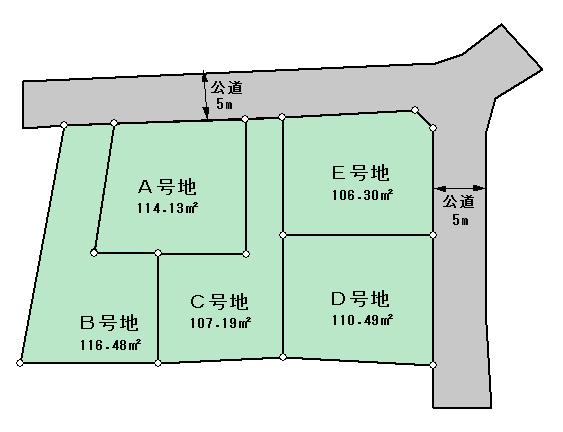 区画図3-間取りダウンロード-不動産広告作成ソフト-不動産チラシデザイナー3