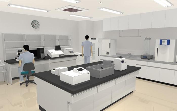 ニュースリリース病院を3Dで再現するソフトに検体検査機器のパーツを追加