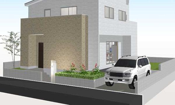 敷地より低い駐車スペースの作成例