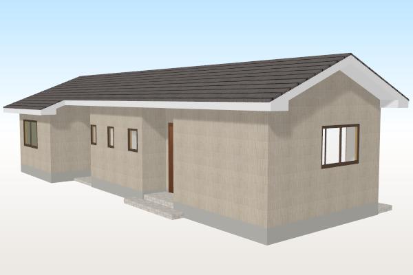 軒下がり屋根の作成例