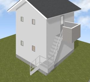 屋外階段のサンプル画像